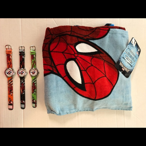Brandnew Spiderman Beach Bath swim pool boys Towel